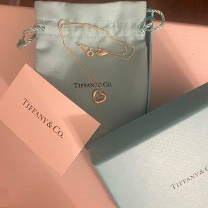 Tiffany & co floating heart necklace